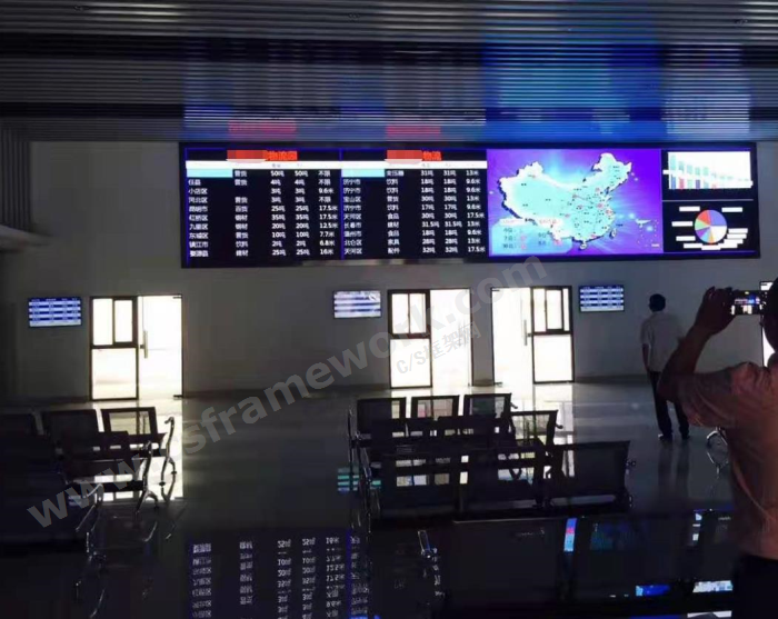 贴图图片-物流园区信息系统数据看板大厅3