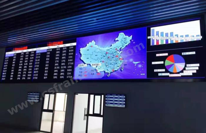 贴图图片-物流园区信息系统数据看板大厅4