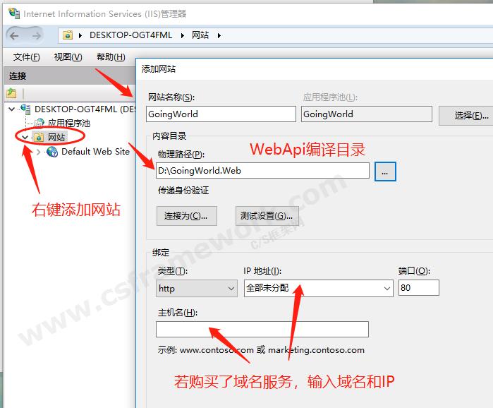 贴图图片-部署和发布WebApi到IIS服务器