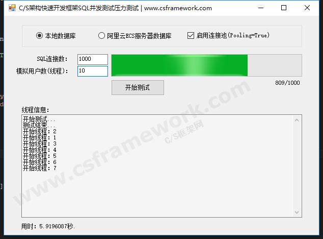 贴图图片-CS架构快速开发框架SQL并发测试压力测试1