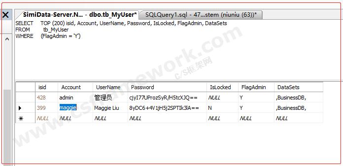 贴图图片-CSFramework快速开发框架设置默认的管理员密码1