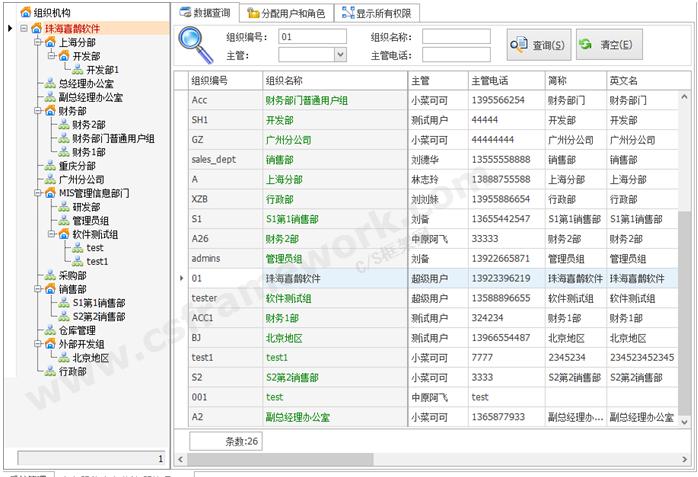 贴图图片-CSharp权限管理框架-组织机构用户组