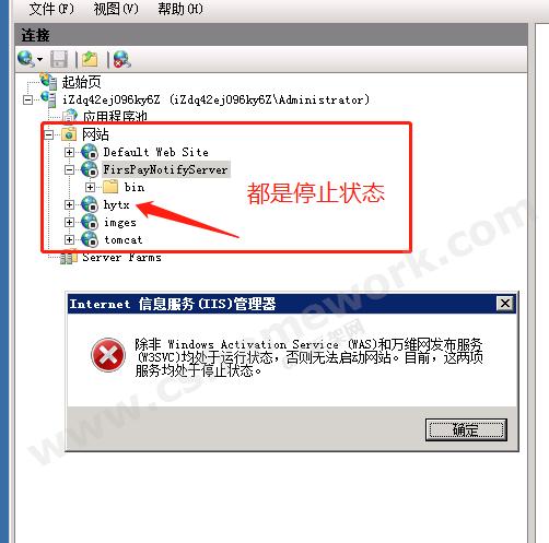 贴图图片-WAS和万维网发布服务W3SVC均处于运行状态